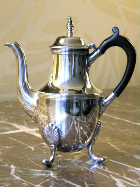 Antique Mappin Brothers silver plated individual coffee pot.
